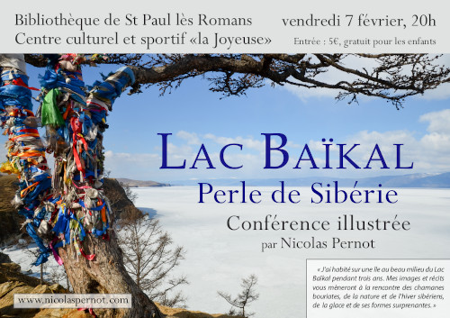 Affiche Nicolas Pernot conference Baikal
